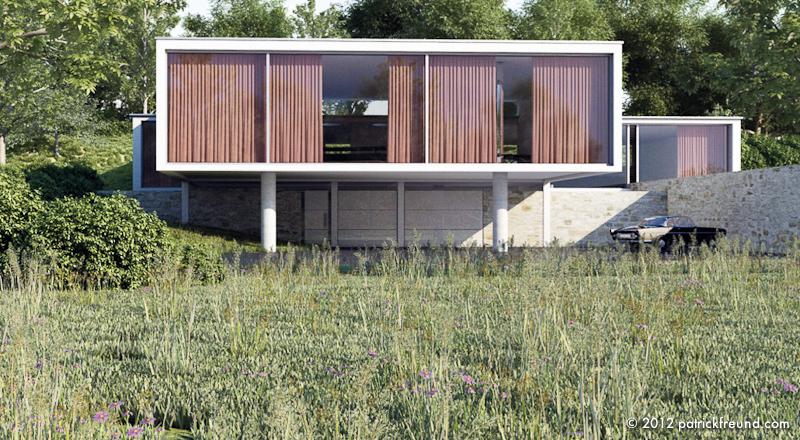 Haus m patrick freund architekt for Cinema 4d architektur